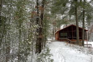 Cabin at top of ravine, Wood River Retreat